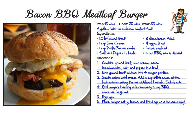 Bacon BBQ Meatloaf Burger