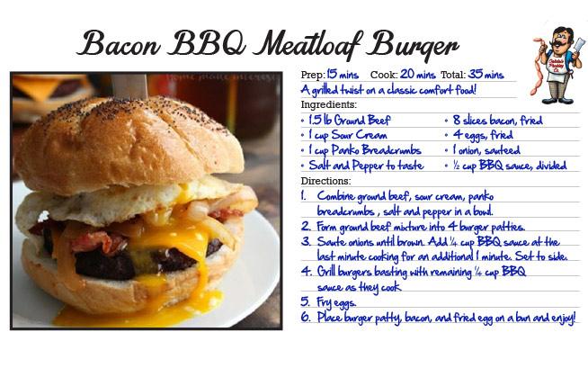 Bacon BBQ Meatloaf Burger