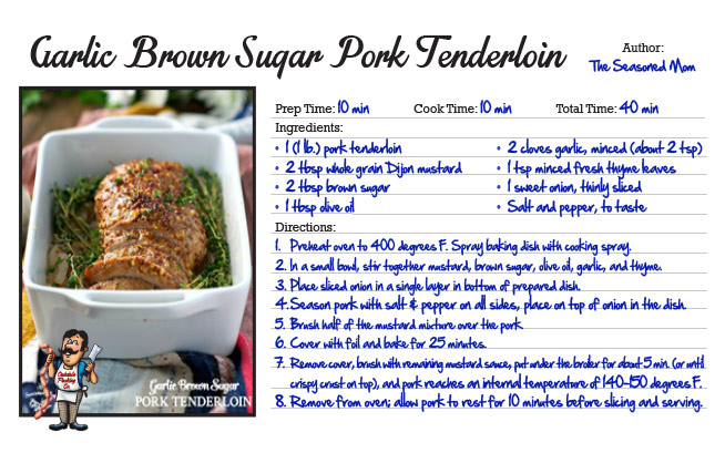 Garlic Brown Sugar Pork Tenderloin